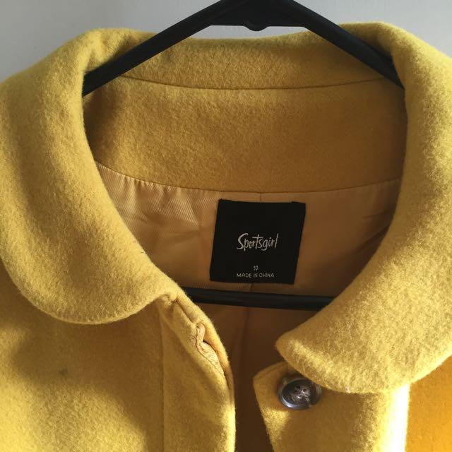 Mustard Sportsgirl Coat 10