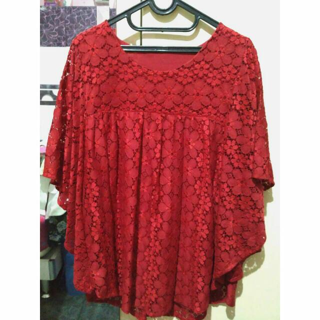 New! Red Lacey Tops