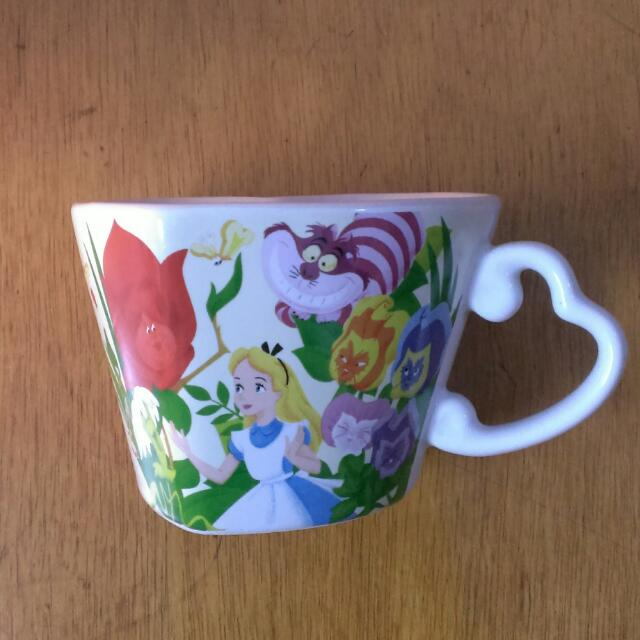 (售出)oh♪迪士尼愛麗絲杯子 心型 disney alice