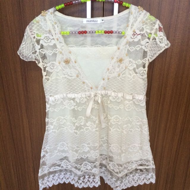Panelli Lace Top