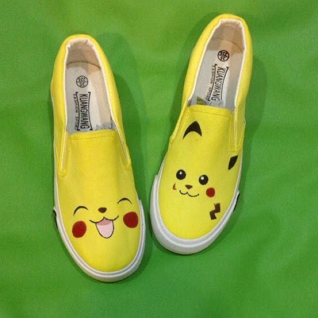 Pokemon go! Hand painted shoes