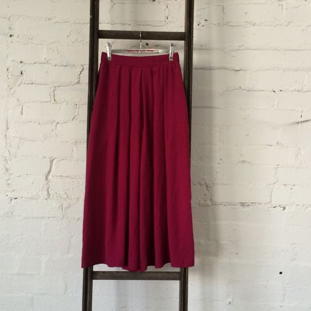 Raspberry Pink Culotte Pants