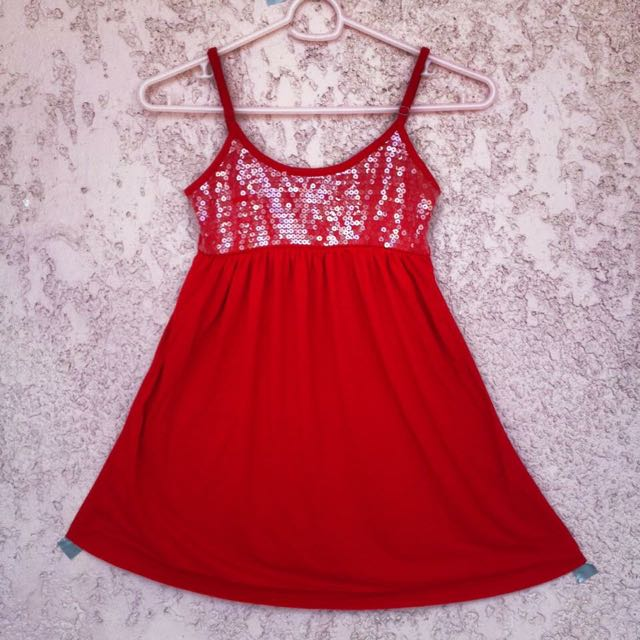 Red Spaghetti Strap Dress