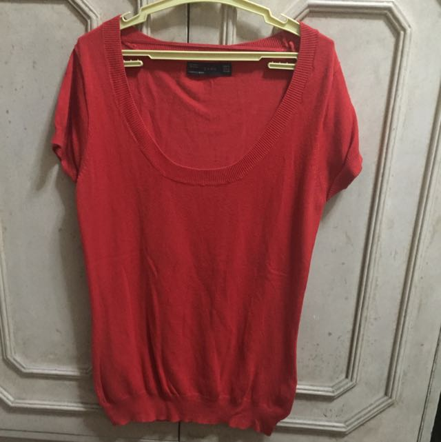 Red Top From Zara
