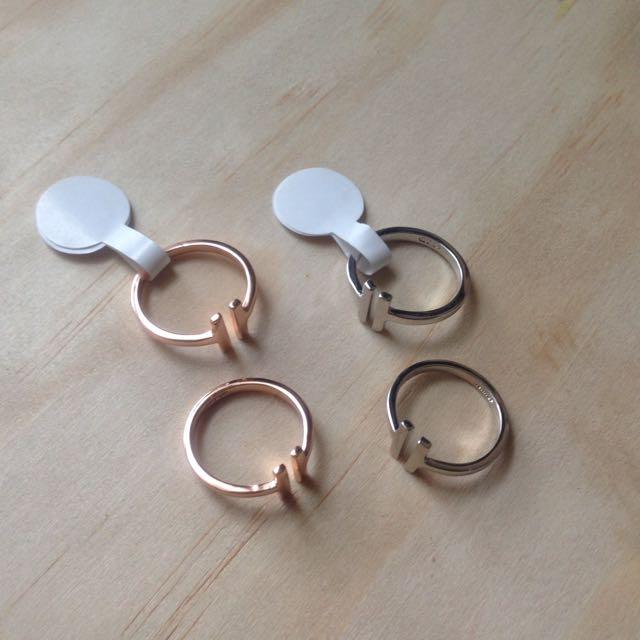 Rose Gold / Silver Plated Bar Ring