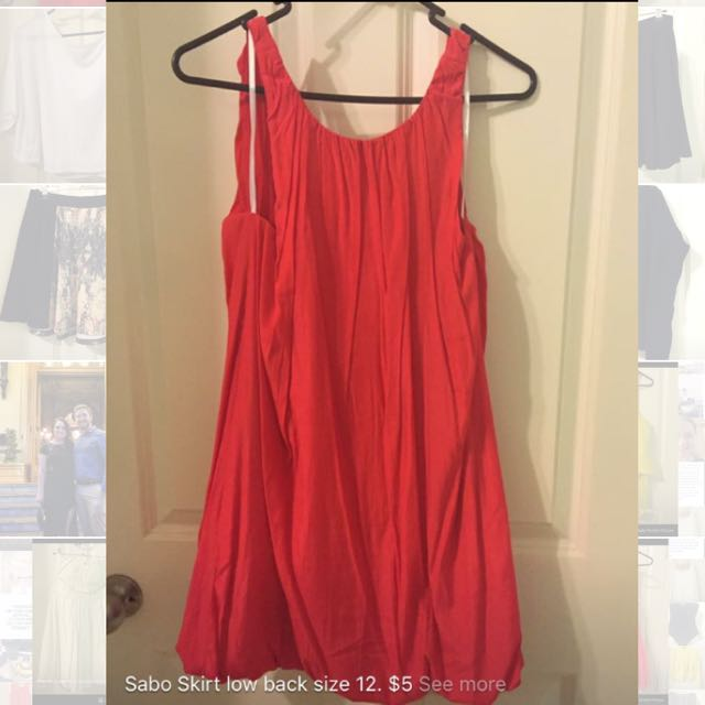 Sabo Skirt Red Dress. Size 12.