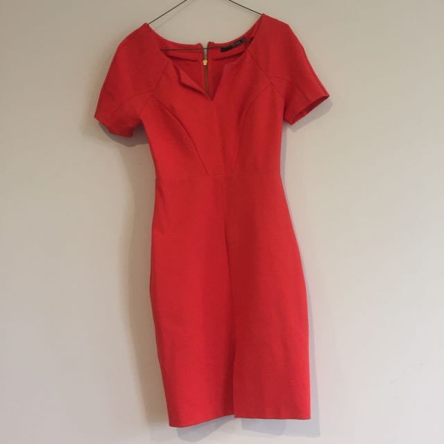 SEDUCE Red Fitted Dress.