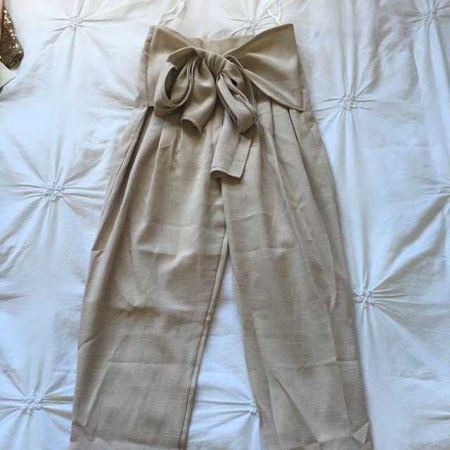 Tie Up Pants Size 6