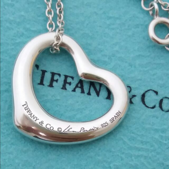 TIFFANY經典Open Heart心形項鍊,M號