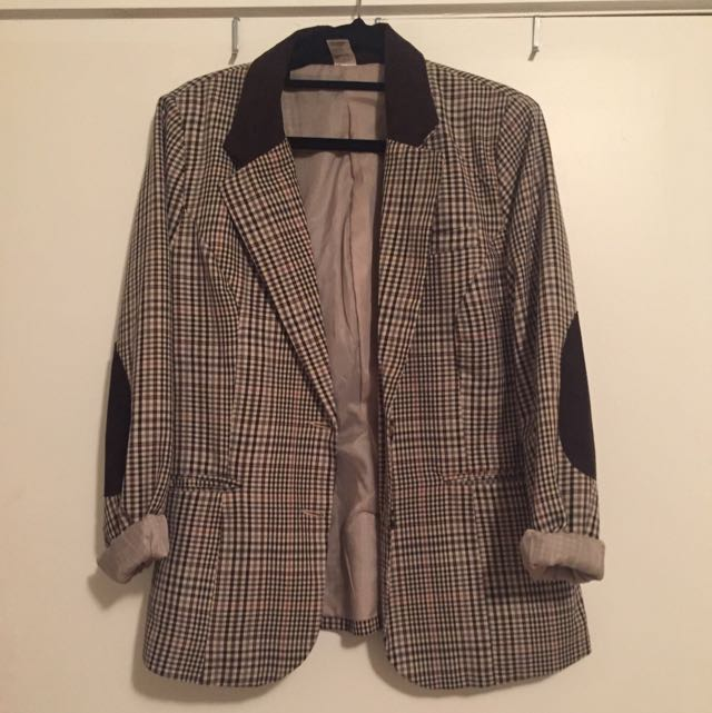 Tweed Jacket With Suede Elbow Patches