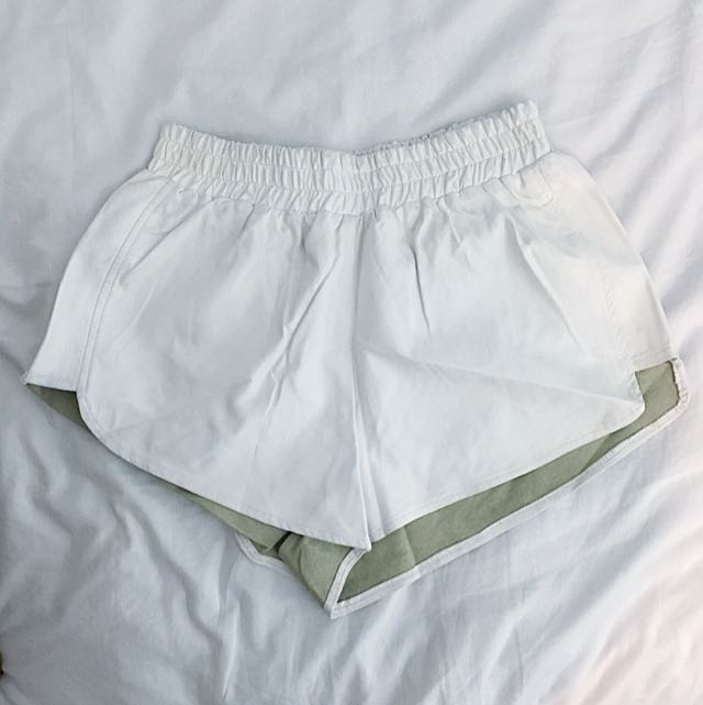 White Faux Leather Shorts