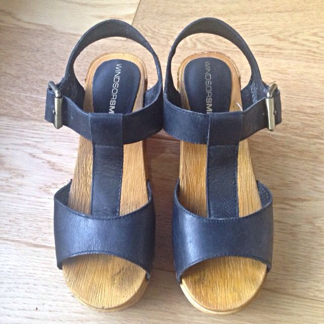 Windsor Smith Wooden Heels, Size 7