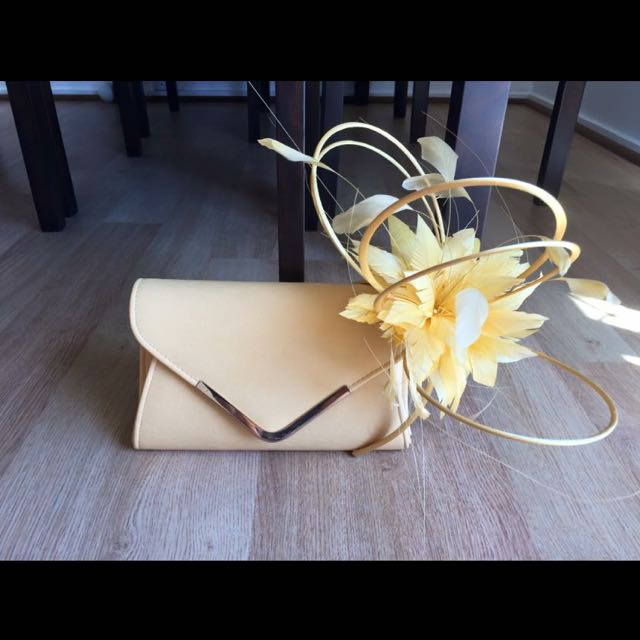 Yellow Colette Clutch & RMK Fascinator