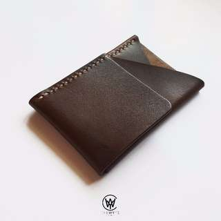 Handmade Genuine Full Grain Leather Card Holder | Handcrafted | Handstitched | D41