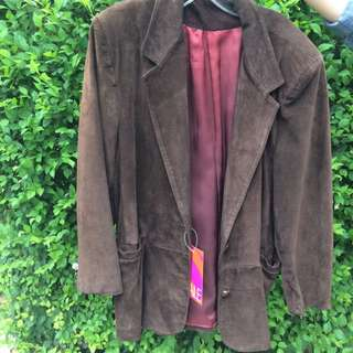 Vintage Brown Suede Jacket