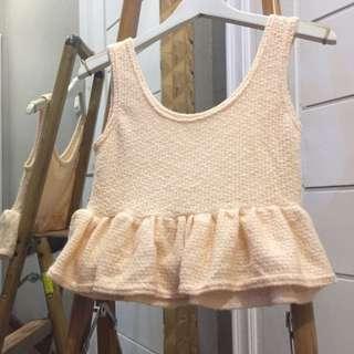 Knitted Crop Top (Peach)