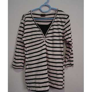 Stripes (Pink and Black) Blouse