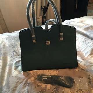 Forest Green Handbag New