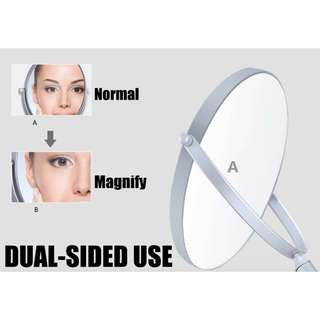 360° DUAL-SIDED PORTABLE MAKEUP TABLE MAGNIFYING MIRROR