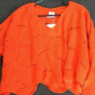 NEW Orange Or White Knit Crop