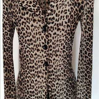 Leopard Skin Long Dress Jacket
