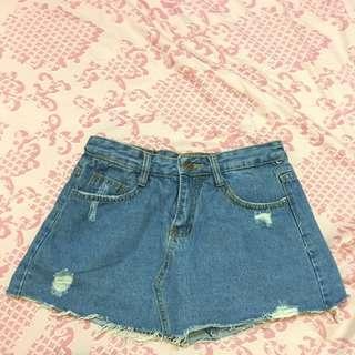 牛仔褲裙(二手)