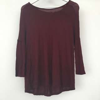 Zara Maroon Light Sweater