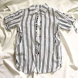Stripy Long Blouse