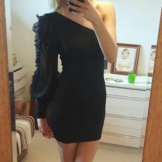 Off The Shoulder Black Luella Dress Size 8