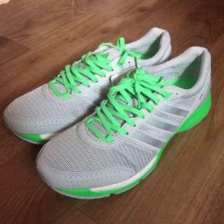 全新Adidas 愛迪達 螢光綠灰慢跑鞋  Adizero Ace 7 US10號 Running Training