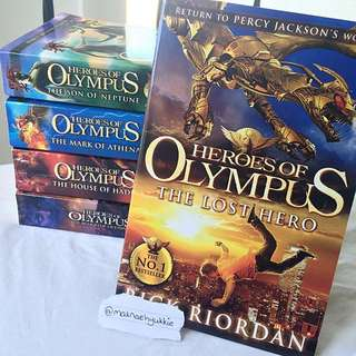 Heroes Of Olympus Complete Set