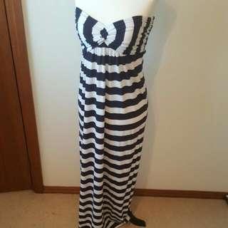 Bardot Striped Strapless Maxi Dress