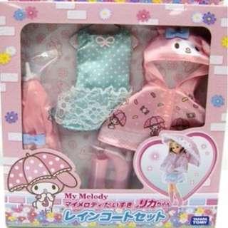 [Pre-order] Takara Licca Doll My Melody Love Rika-Chan Raincoat Set