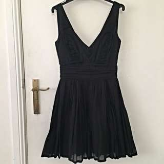 V-neck Black Dress