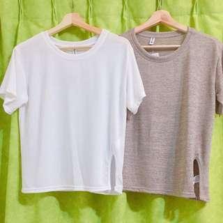 全新薄針織寬鬆T恤💕