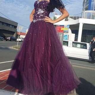 Purple Princess Style Formal Dress