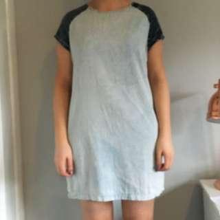 Denim T-Shirt Dress Size Medium