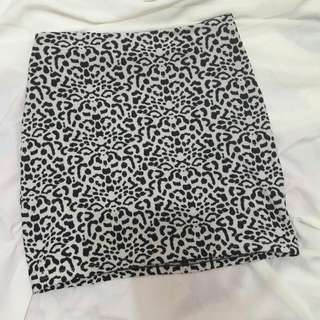 Zebra Mini Skirt
