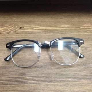 (全新附盒)文青 半框眼鏡