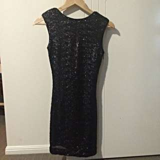 Bardot Sequined Party Dress