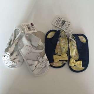 Six Pairs Baby Shoes Bundle New Born