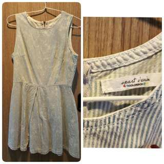 Preloved - Colorbox Denim Pattern Dress