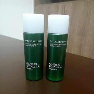 Nature Republic Ginseng Royal Silk Toner & Emulsion 31ml