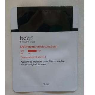 🌝Belif UV Protector fresh sunscreen 防曬 3ml