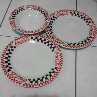 復古 可口可樂COCACOLA 湯碗/湯盤 收藏擺飾