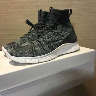 hot sales 4d690 7ea25 US10 NIKE FREE MERCURIAL SUPERFLY SP HTM Grey White