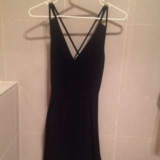 Black Cross Back Dress