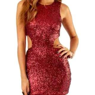 TOBI Red Sequin Dress