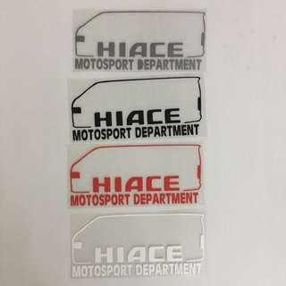 Hiace Stickers Size 18.5x8.5cm