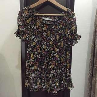 Zara Flower Blouse